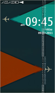 Minimalism Airplanes tema screenshot