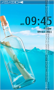 Bottle in Ocean tema screenshot