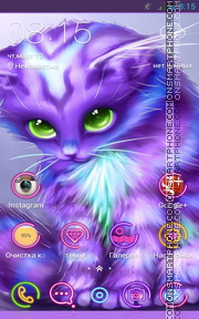 Cute Kitty 13 theme screenshot