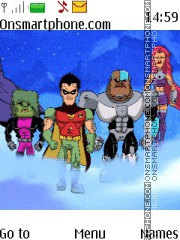 Teen Titans tema screenshot