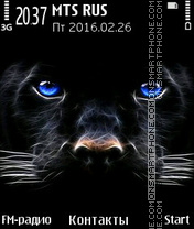 Panter Eyes theme screenshot