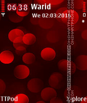Red Spheres theme screenshot