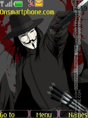 V for Vendetta theme screenshot