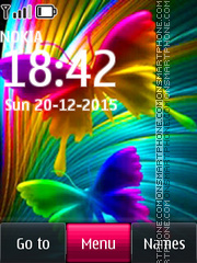 Cute Butterfly 01 tema screenshot