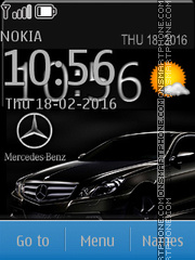 Black Mercedes 03 tema screenshot