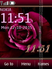 Pink Rose 07 tema screenshot