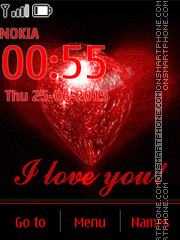 Red Heart, I Love You tema screenshot