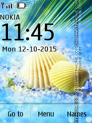 Seashell 01 tema screenshot