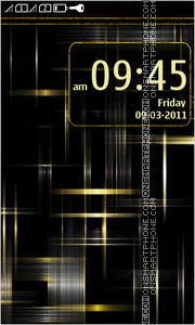 Black and gold abstract tema screenshot