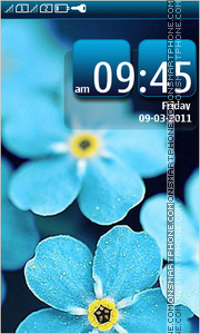 Blue Flowers 07 Theme-Screenshot