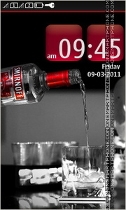 Smirnoff Vodka tema screenshot