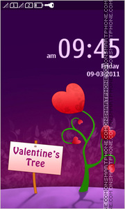 Valentines Tree 01 tema screenshot