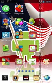 USA Flag 03 es el tema de pantalla