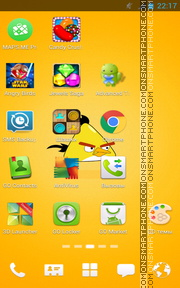 Angry Birds Yellow theme screenshot