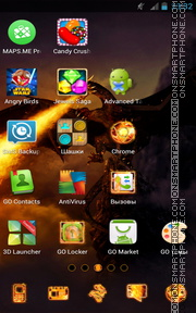 Dragon Fire 02 tema screenshot