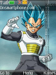 Dragon Ball Z Vegeta tema screenshot