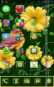 Spring Flowers 16 theme screenshot