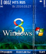 Capture d'écran Windows 8 thème
