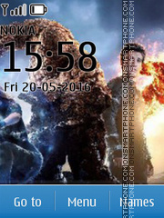 Fantastic Four tema screenshot