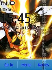 Capture d'écran Saitama & Genos thème