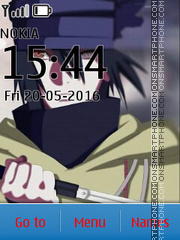 Sasuke Naruto the Last theme screenshot