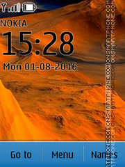 Desert tema screenshot