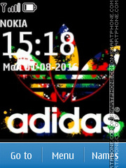 Adidas Color theme screenshot