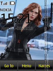 Avengers Black Widow theme screenshot