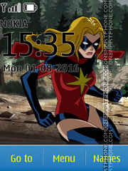 Avengers Ms Marvel tema screenshot