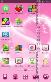 Pink Design 01 tema screenshot