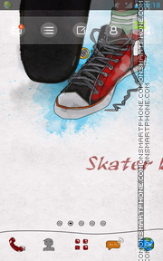 Skater Hip Hop theme screenshot