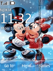 Animated Mickey Love es el tema de pantalla