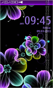 Abstract colorful flowers es el tema de pantalla