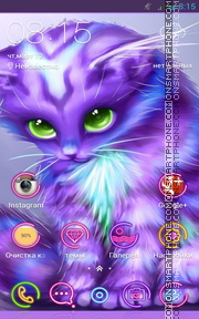 Colorful Kitty es el tema de pantalla