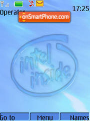 Capture d'écran Intel Inside Animated thème