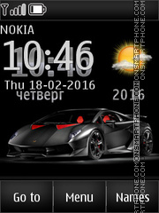 Supercar Lamborghini theme screenshot