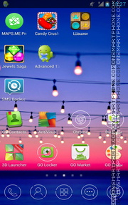Violet Light bulbs theme screenshot