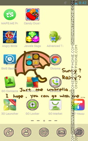 Rainy 01 tema screenshot