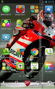 Ducati 1095 theme screenshot