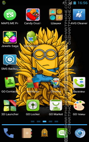 Minions with bananas tema screenshot