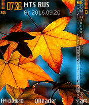 Colors-Of-Fall tema screenshot