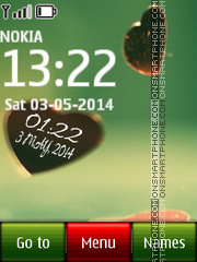 Heart Digital Clock theme screenshot