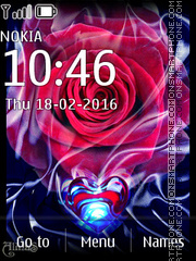 Rose and Heart 01 theme screenshot