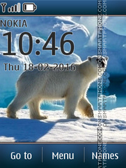 White Polar Bear theme screenshot