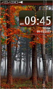 Red Forest 01 tema screenshot