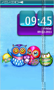 Owls 01 tema screenshot