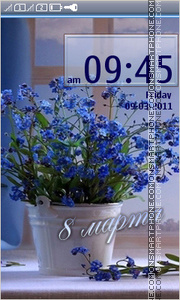 Blue flowers 08 tema screenshot