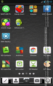Black Texture 01 tema screenshot