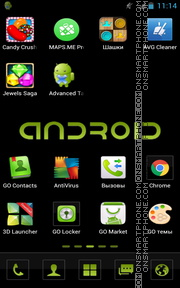 Black Android Logo tema screenshot