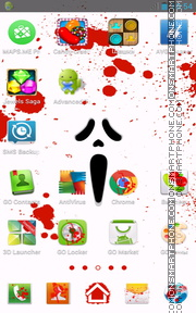 Scream Face tema screenshot